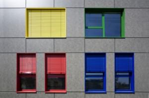osłona zewnętrzna - żaluzje fasadowe